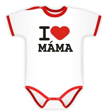 Baby Dejna Body kr. rukáv I love Máma, vel. 74, K19