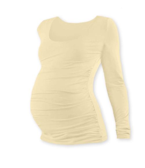 Těhotenské triko Johanka s dlouhým rukávem - caffe latte, L/XL