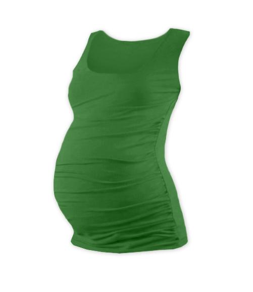 Těhotenský top JOHANKA - tm. zelená (barva: Tm. zelená, vel. XXL/XXXL, TR01-TIL)