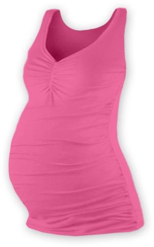 Těhotenský topík JOLANA - růžová, Velikost: L/XL