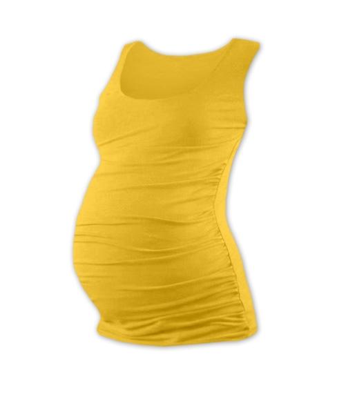 Těhotenský top JOHANKA - žlutooranžová