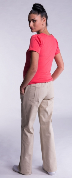 Be MaaMaa Těhotenské kalhoty s boční kapsou - bílá, vel. XXL