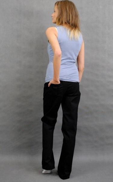 Be MaaMaa Těhotenské kalhoty s boční kapsou - černá