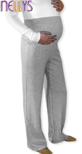 Be MaaMaa Těhotenské tepláky - šedý melír