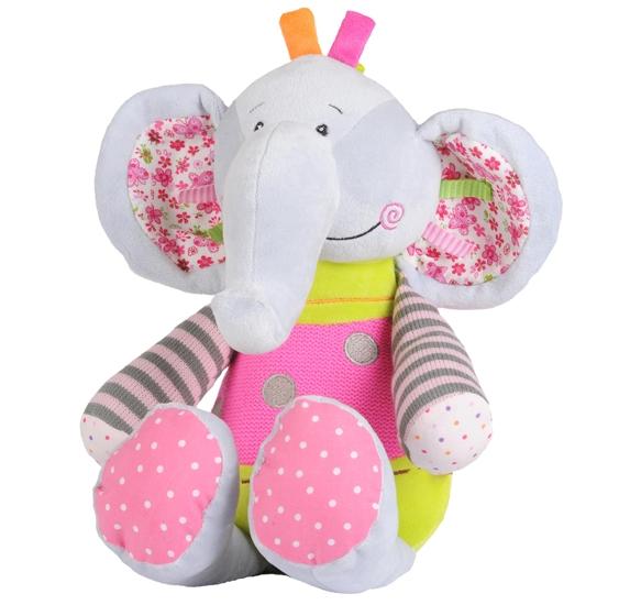 Edukační hračka s chrastítkem Baby Ono - Slon malý