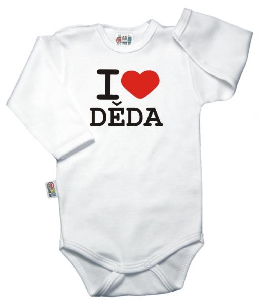 Baby Dejna Body dl. rukáv Kolekce I Love Děda, vel. 74, K19