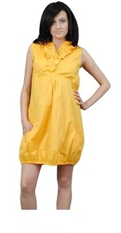 Be MaaMaa Těhotenské šaty TULIPÁNEK - žlutá