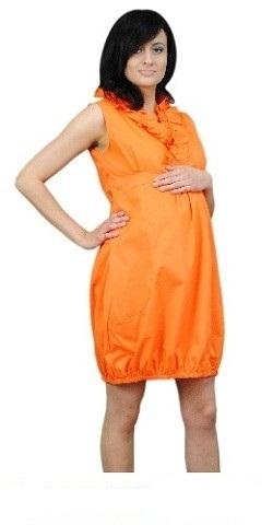 Be MaaMaa Těhotenské šaty TULIPÁNEK - oranžová