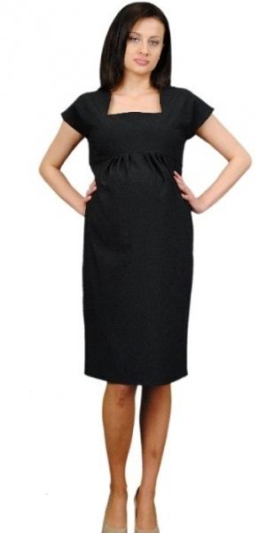 Be MaaMaa Těhotenské šaty ELA - černá
