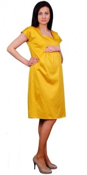 Be MaaMaa Těhotenské šaty ELA - hořčice