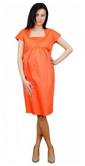 Be MaaMaa Těhotenské šaty ELA - oranžová