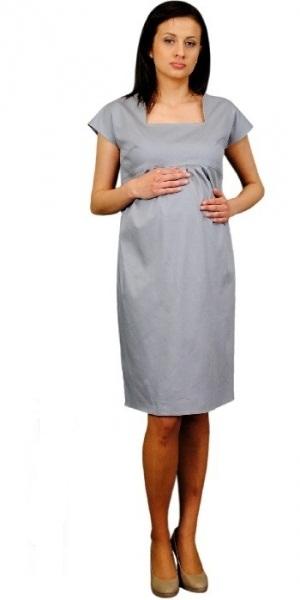 Be MaaMaa Těhotenské šaty ELA - ocelová