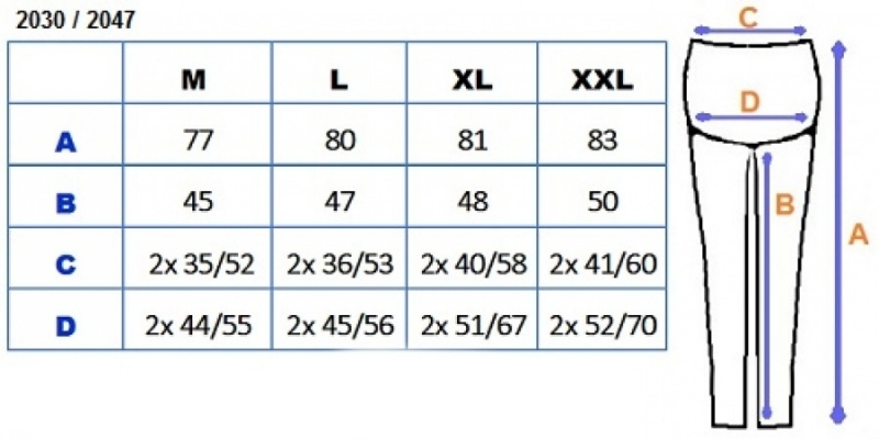 Be MaaMaa Těhotenské barevné legíny 3/4 délky - bílá, vel. XXL, K19
