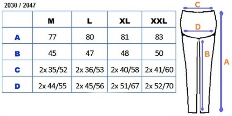 Be MaaMaa Těhotenské barevné legíny 3/4 délky - černá, vel. L, K19