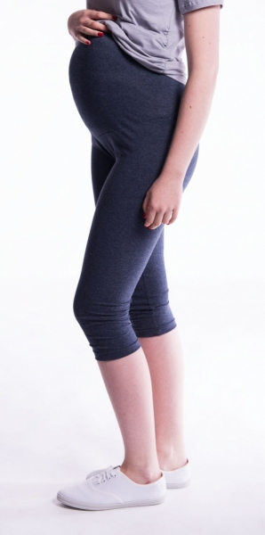 Be MaaMaa Těhotenské barevné legíny 3/4 délky - černá, vel. XL, K19