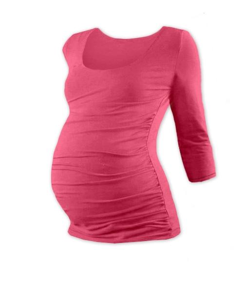 Těhotenské triko 3/4 rukáv Johanka - lososově růžové,  L/XL