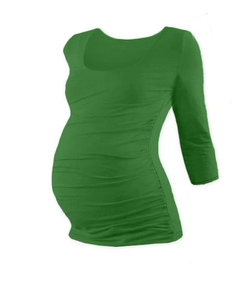 Těhotenské triko 3/4 rukáv JOHANKA - tm. zelená