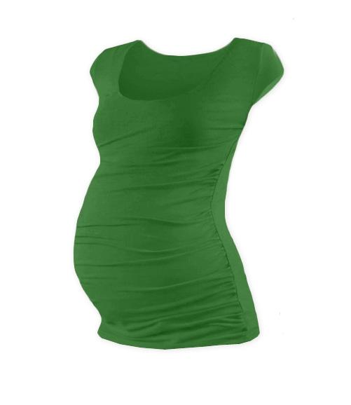 JOŽÁNEK Těhotenské triko mini rukáv JOHANKA - tmavě zelená