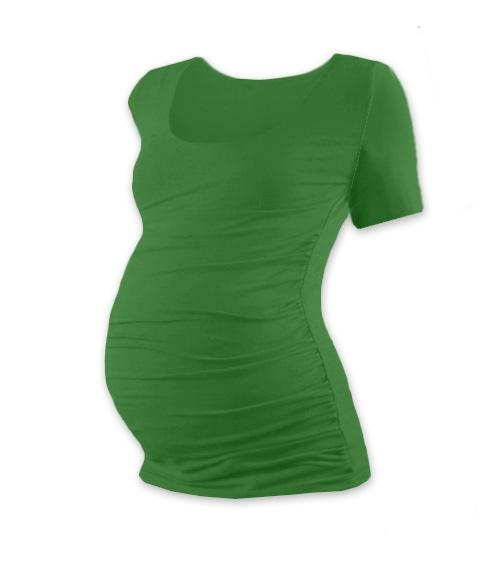 JOŽÁNEK Těhotenské triko krátký rukáv JOHANKA - tmavě zelená