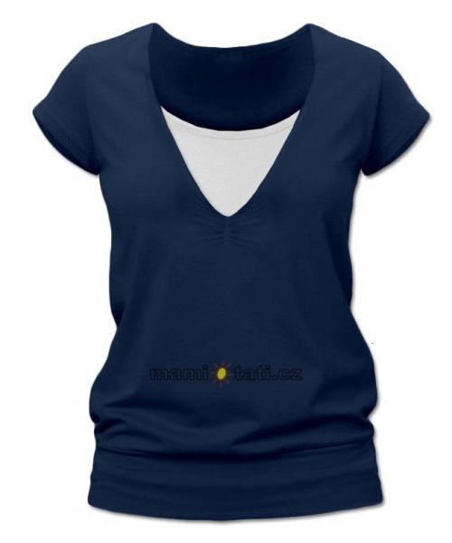 Kojící,těhotenské triko JULIE - jeans