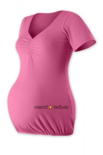 Těhotenská tunika volná TINA - růžová