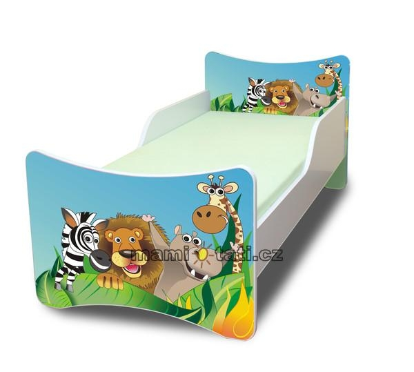 NELLYS Dětská postel se zábranou Zoovel. 140x70