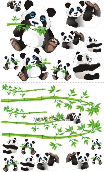 Nástěnná dekorace Panda