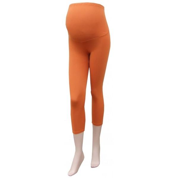 Těhotenské legíny 3/4 délka - oranžová - barva: Oranžová, vel. XL/XXL