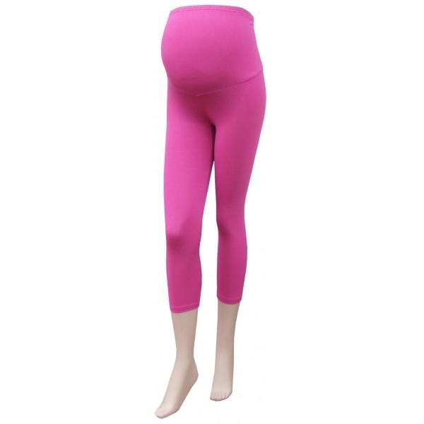 Těhotenské legíny 3/4 délka - růžová - barva: Růžová, vel. XL/XXL