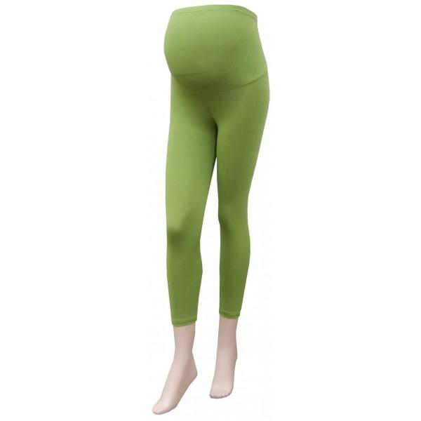 Těhotenské legíny 3/4 délka - zelená - barva: Zelená, vel. M/L