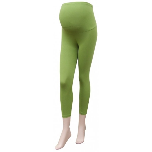 Těhotenské legíny 3/4 délka - zelená (barva: Zelená, vel. XXXL)