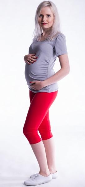 Be MaaMaa Těhotenské barevné legíny 3/4 délky - červená, vel. XL, K19