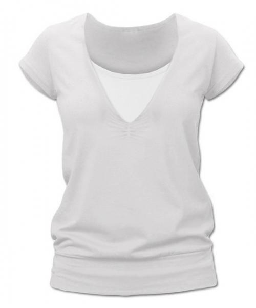 Kojící,těhotenské triko JULIE - smetanová