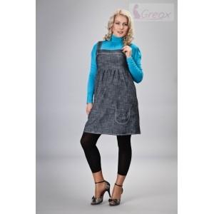 Gregx Elegantní šaty - granátový melírek