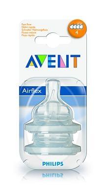 Silikonová savička AIRFLEX Avent, 6m+
