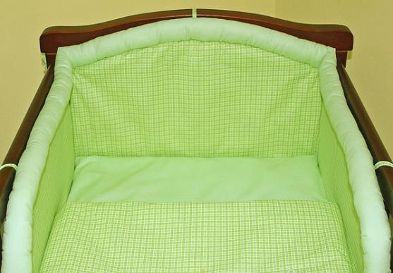 Mantinel s povlečením - Kostička zelená