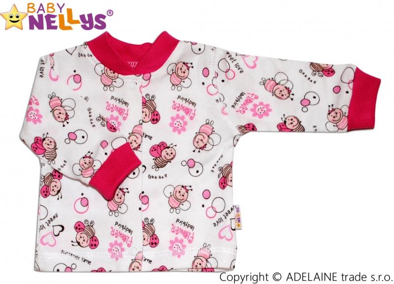 Baby Nellys Bavlněná kojenecká košilka vel. 62 - Beruška