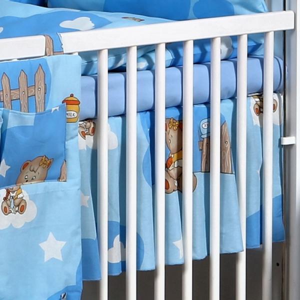 Volánek pod matraci Míša Love v modrém - vzor: Míša Love v modrém, 140x70cm
