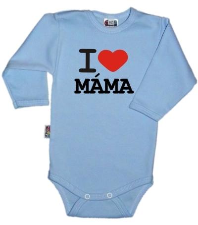 Baby Dejna Body dl. rukáv Kolekce I Love Máma, sv.modré, vel. 80, K19