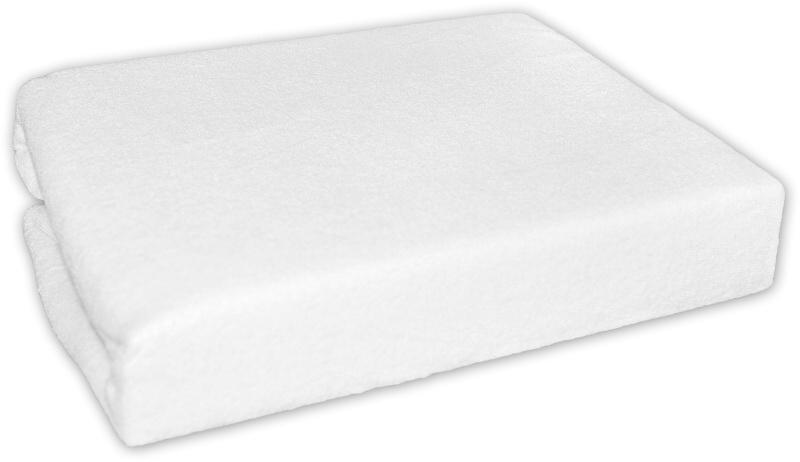 Froté prostěradlo do postele BÍLÉ - barva: Bílé, rozměr: 200x90