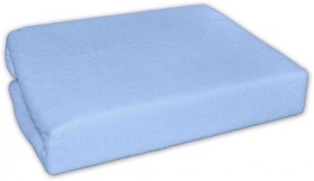 Dovoz EU Froté prostěradlo do postele MODRÉ, 180 x 90 cm, Velikost: 180x90