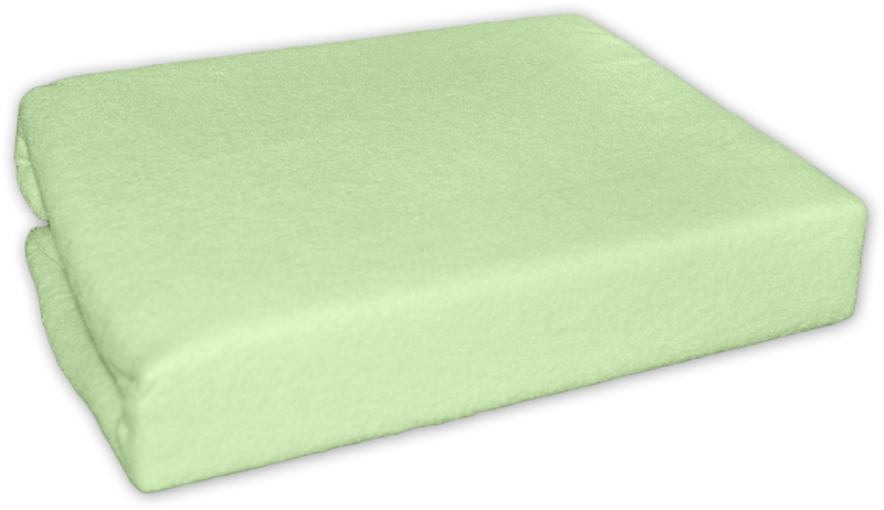 Froté prostěradlo do postele ZELENÉ - barva: Zelené , rozměr: 160x70