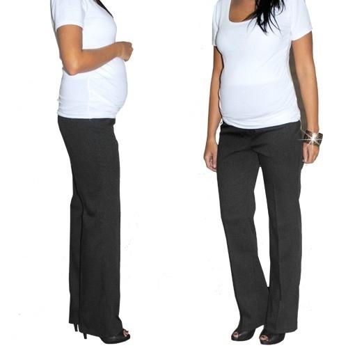 Be MaaMaa Elegantní těh. kalhoty letní - černé