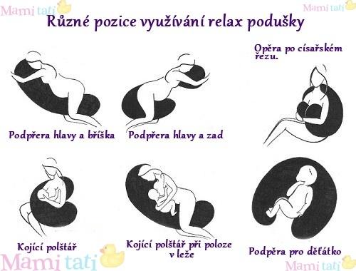 Be MaaMaa Kojící polštář - relaxační poduška Relax Deluxe - lososová