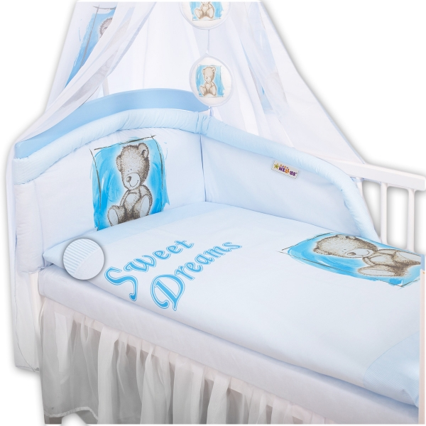 Mantinel s povlečením Sweet Dreams by Teddy - modrý