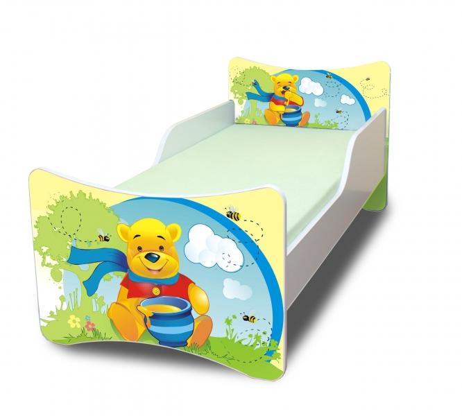 NELLYS Dětská postel Medvídek s medem - 180x80 cm