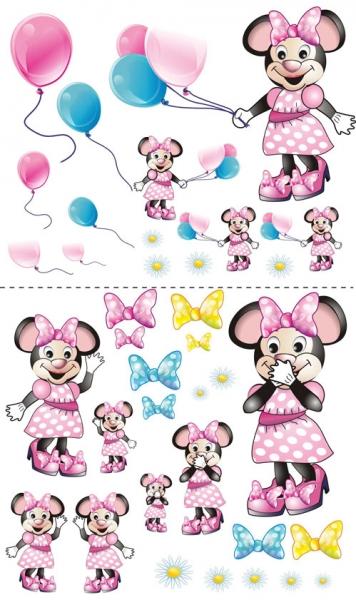 NELLYS Nálepky, dekorace na stěnu 70x100 cm - Myška s balónkem