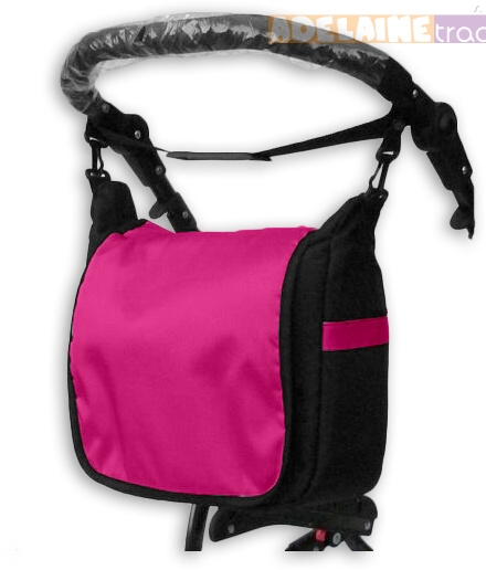 Taška na kočárek lux - růžová