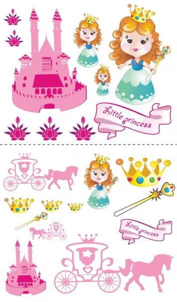 NELLYS Nálepky, dekorace na stěnu 70x100 cm - Malá princezna