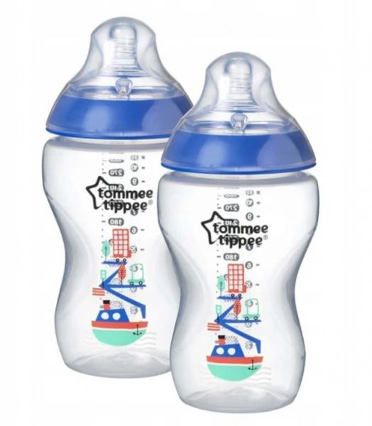 Láhve 3m+ Tommee Tippee modré - 340 ml 2ks v balení
